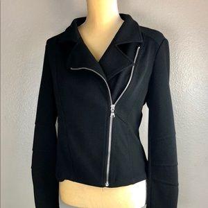 Express Black Stretch Zip Up Jacket M